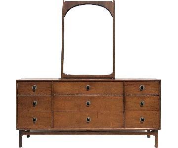 Bassett Mid-Century Modern Dresser w/ Mirror