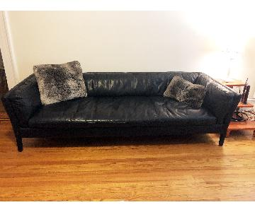 Restoration Hardware Sorensen Custom Leather Sofa