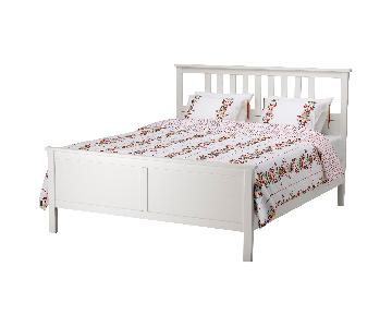 Ikea Hemnes Queen Bed Frame w/ Lonset Slatted Base