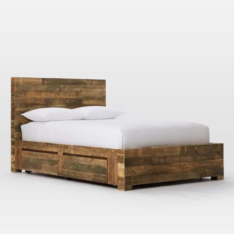 West Elm Natural Solid Reclaimed Wood Storage Bed