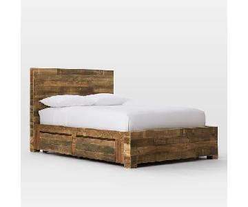 West Elm Natural Solid Reclaimed Wood Storage Bed