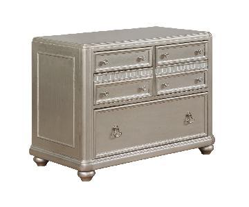 File Cabinet w/ Metallic Finished Wood