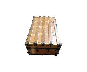 Wooden Chest w/ Metallic Decorations