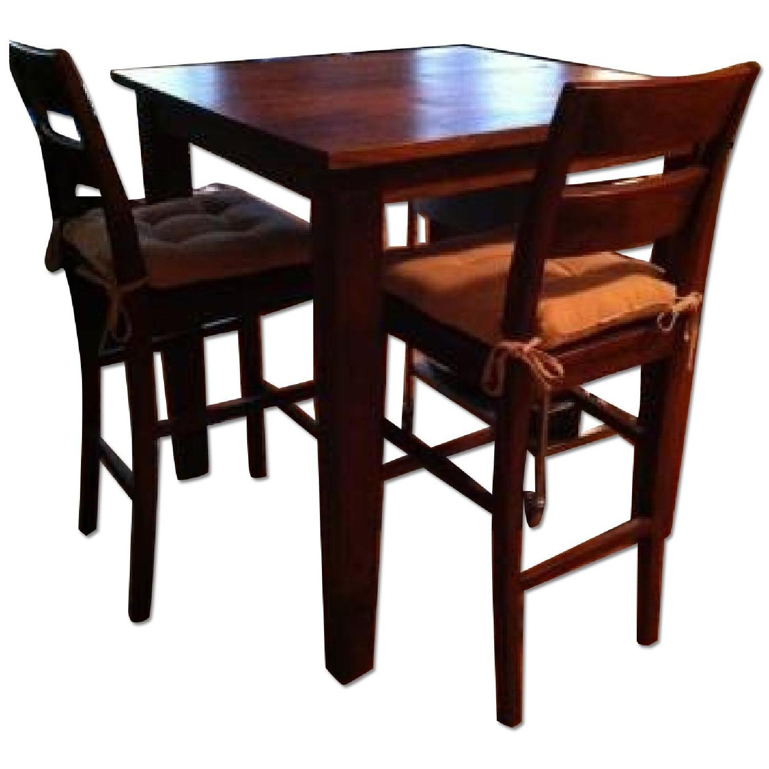 Crate Barrel Basque High Dining Table W 2 Stools Aptdeco