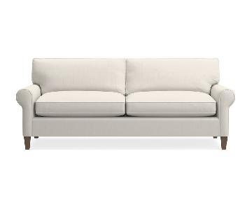 Crate & Barrel Montclair 2-Seat Roll Arm Sofa