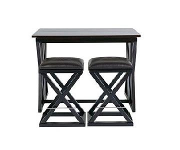 Sitcom Furniture Turin Flip Top Bar Table w/ 4 Stools