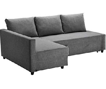 Ikea Friheten Sleeper Sectional Sofa w/ Storage & 3 Pillows