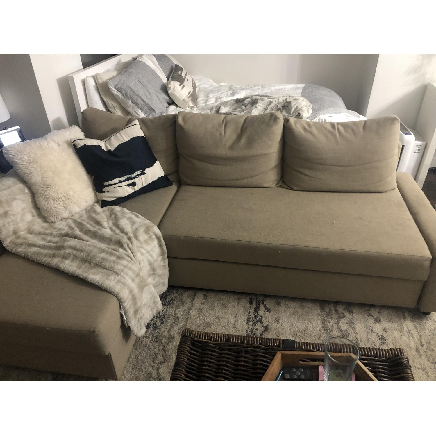Remarkable Ikea Friheten Sleeper Sectional Sofa W Storage Aptdeco Machost Co Dining Chair Design Ideas Machostcouk