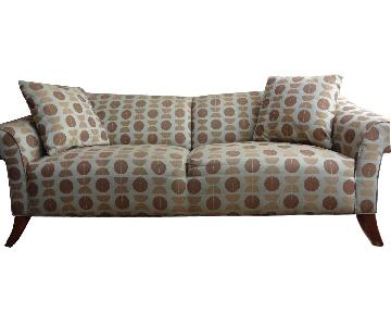 Patterned Upholstered Sofa + Chair