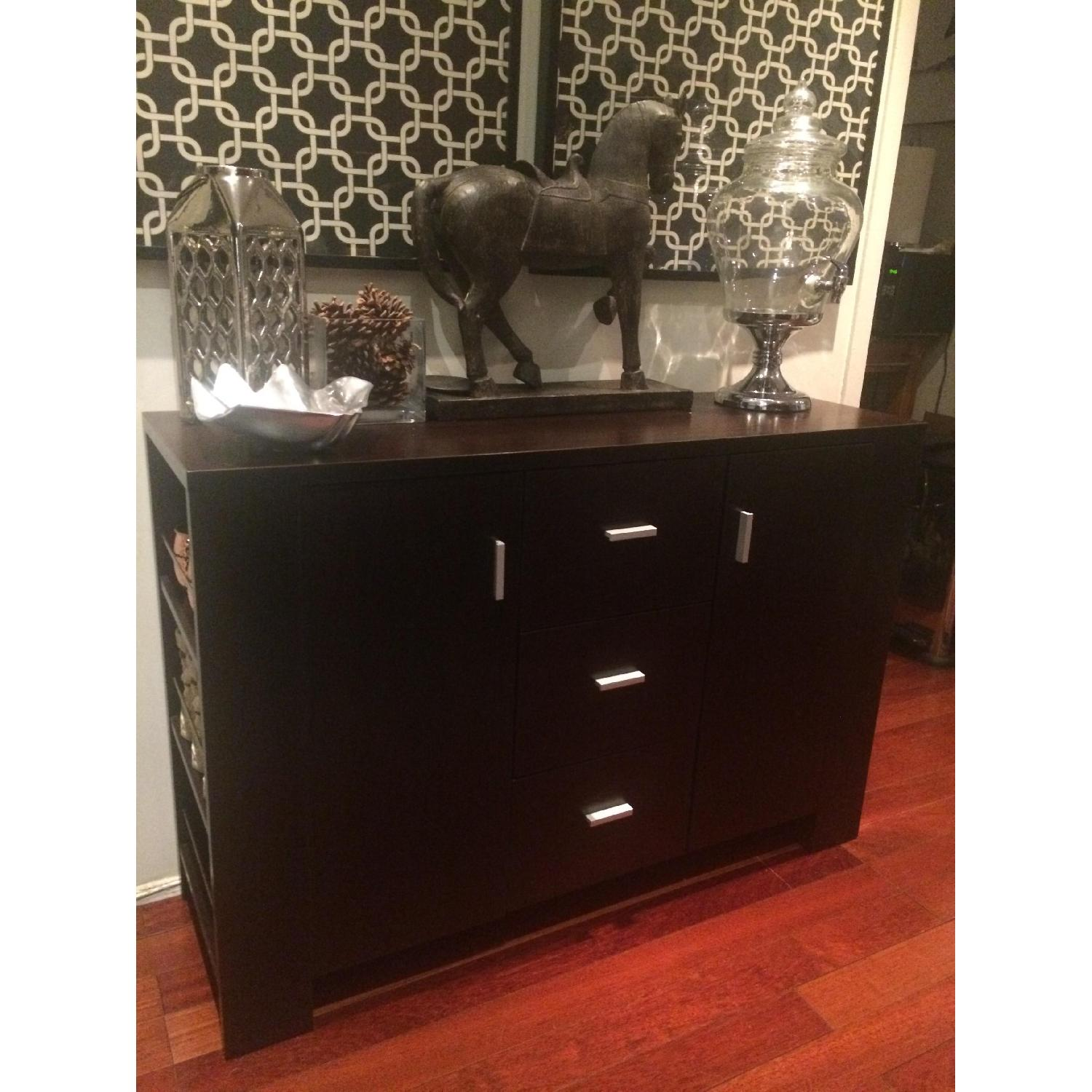 Black Wood Buffet Cabinet