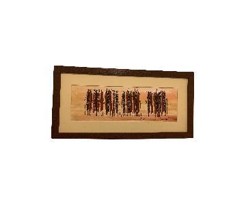 African Art Pieces w/ Maasai Warriors & Africa
