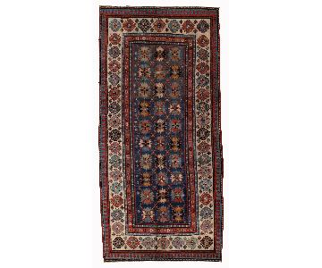 Antique Handmade Caucasian Talish Rug