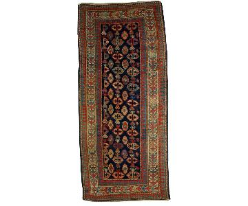 Antique Handmade Caucasian Gendje Rug