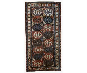 Antique Handmade Caucasian Kazak Mohan Rug