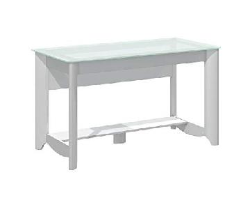 Bush Furniture Aero Glass Writing Desk