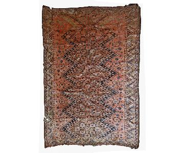 Antique Handmade Collectible Uzbek Beshir Rug