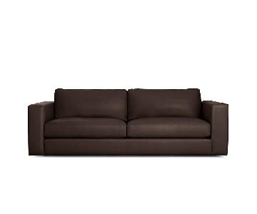 Design Within Reach Reid Leather Sofa in Stout Brown