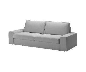 Ikea Kivik Sofa & Storage Ottoman in Light Grey