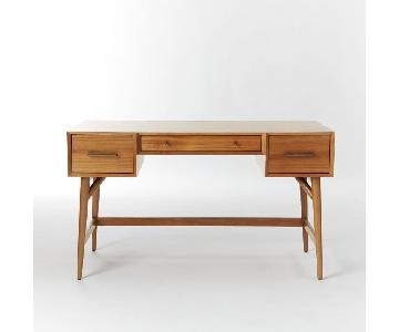 West Elm Mid Century Desk in Acorn