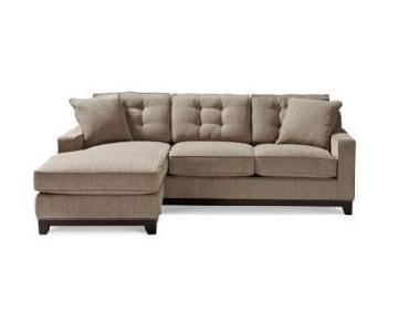 Macy's Reversible Chaise Sleeper Sectional Sofa & Ottoman