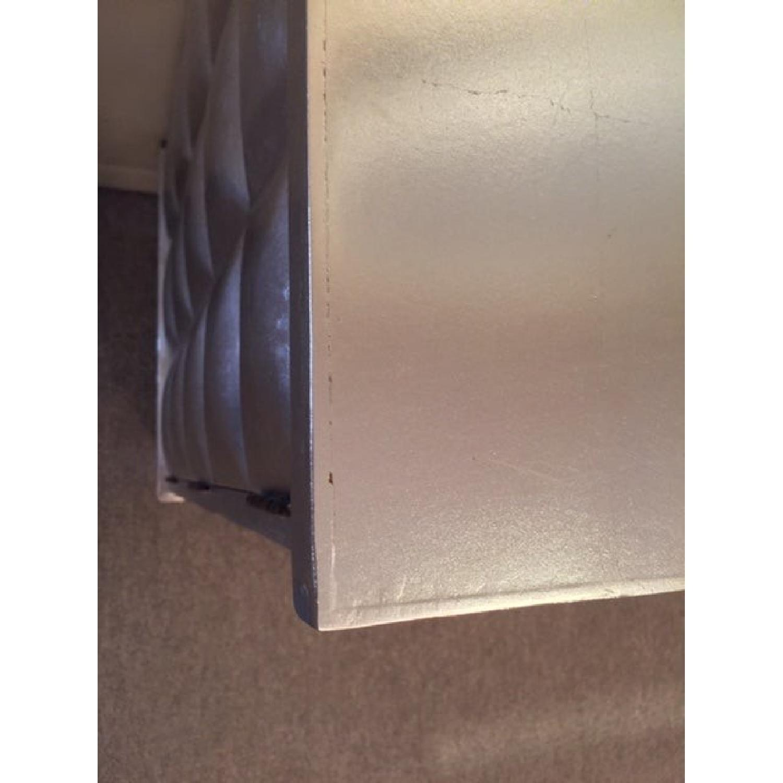 1990s Mid-Century Diamond Silver-Leaf Cabinet/Credenza