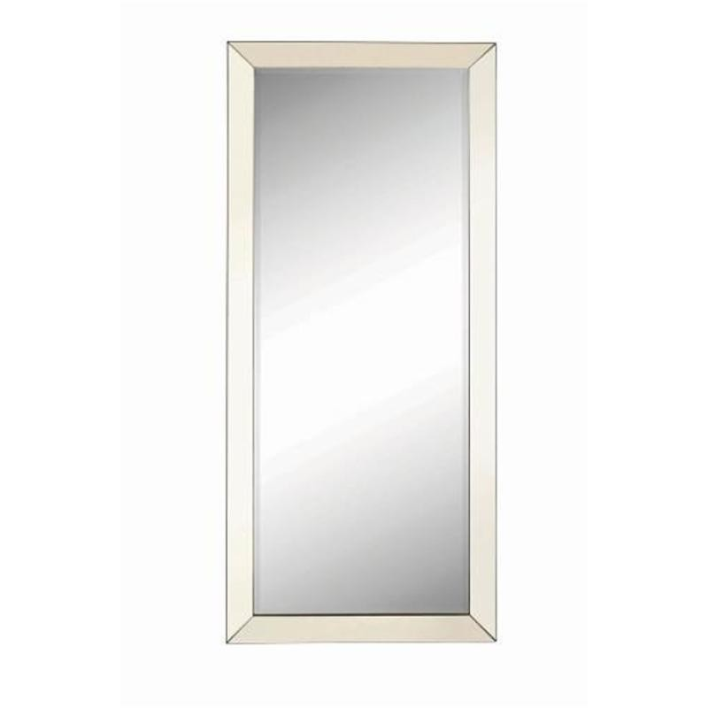 Coaster Contemporary Floor Mirror w/ Mirrored Frame