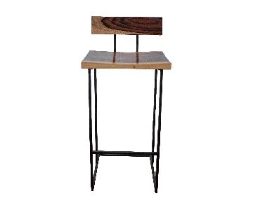 From The Source Reclaimed Wood & Metal Counter Stools