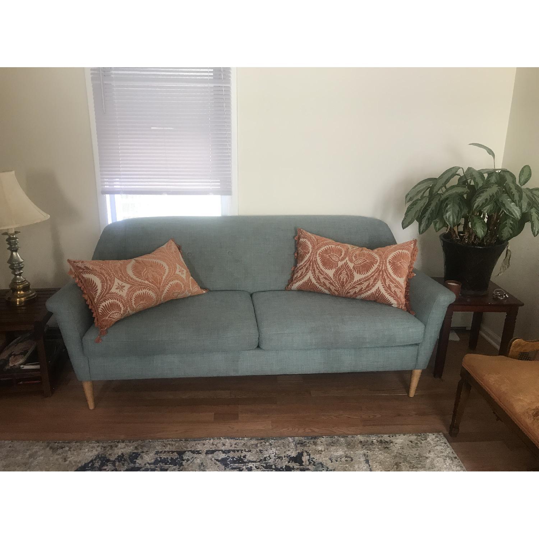 West Elm Finn Light Blue Sofa