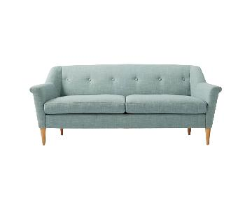 West Elm Finn Light Blue Sofa
