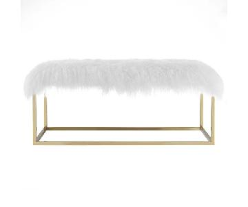 Modway Anticipate Sheepskin Bench