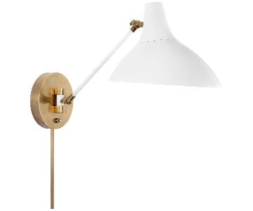 Aerin Charlton Wall Lights in Plaster White Finish