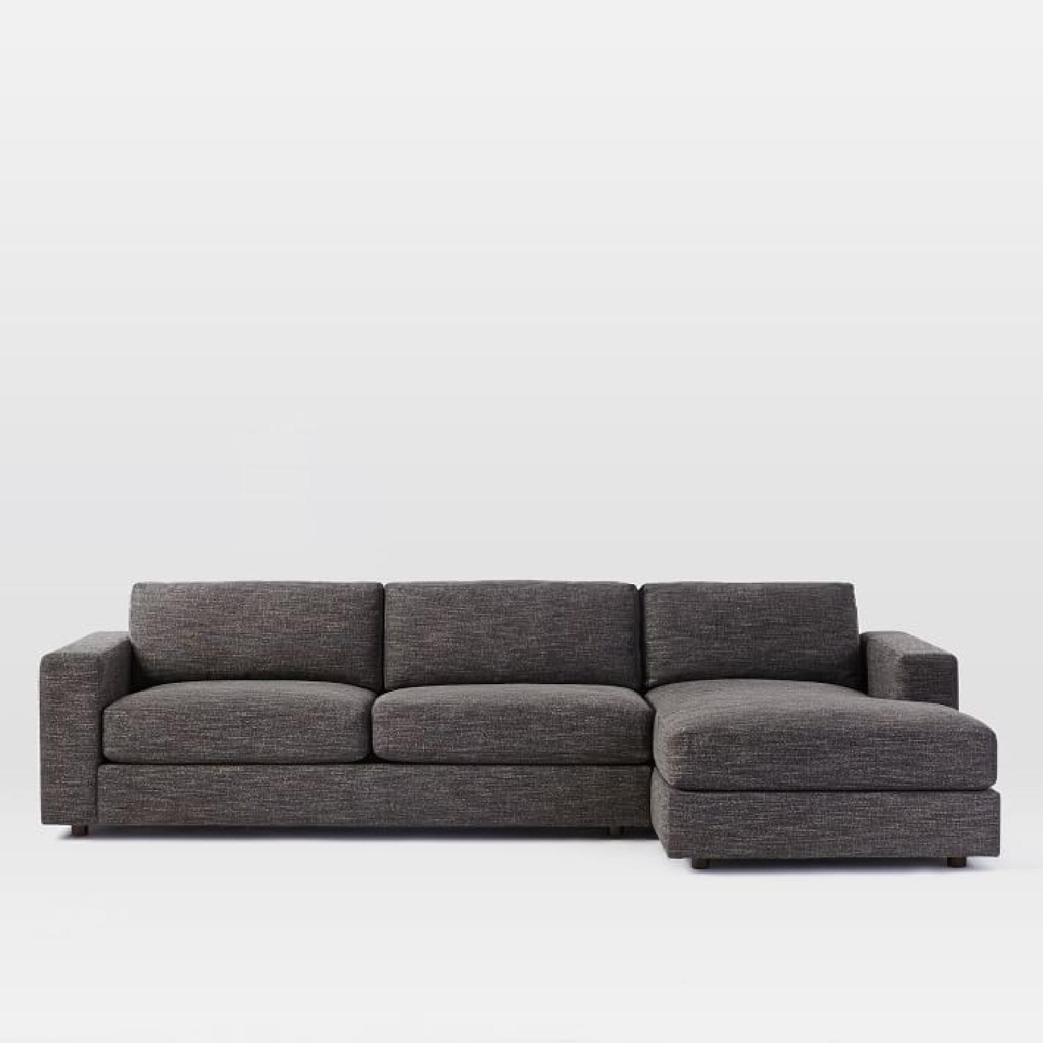 West Elm Urban Large 2-Piece Right Chaise Sectional - AptDeco