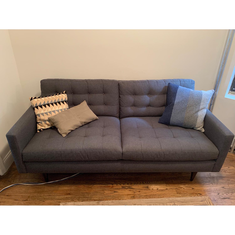 Awe Inspiring Crate Barrel Petrie Midcentury Apartment Sofa Aptdeco Pabps2019 Chair Design Images Pabps2019Com