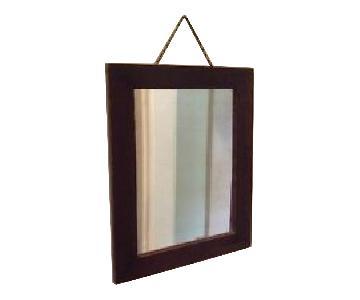 Kathy Ireland Vintage Full Size Mirror w/ Wooden Frame