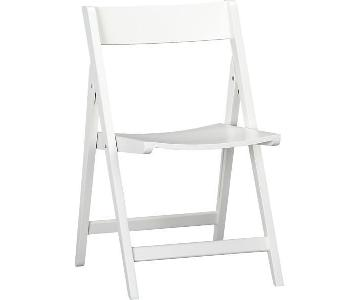 Crate & Barrel White Folding Chairs
