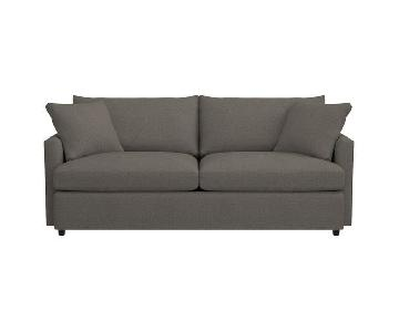 Crate & Barrel Lounge II Petite Sofa & Ottoman