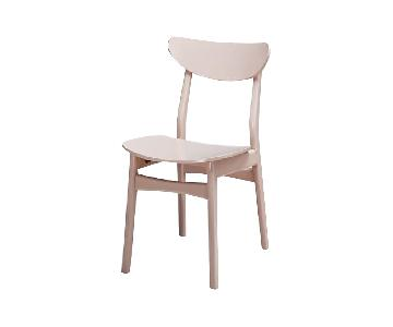 West Elm Classic Cafe Dining Chairs in Blush Lacquer