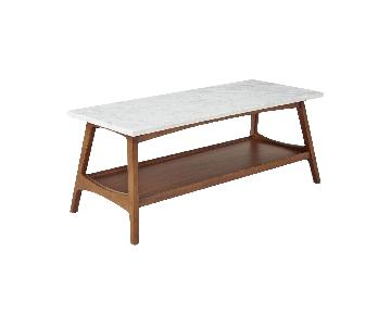 West Elm Reeve Mid Century Rectangular Coffee Table