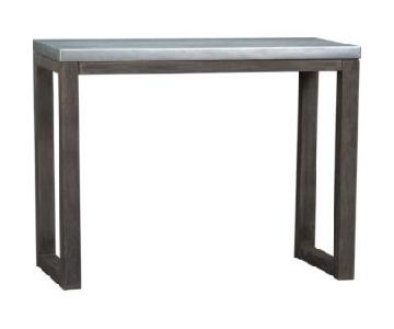 CB2 Stern Counter Table w/ 4 Stools
