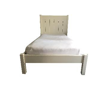 Crate & Barrel Kids White Twin Bed