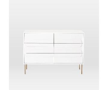 West Elm Gemini 6-Drawer Dresser in White