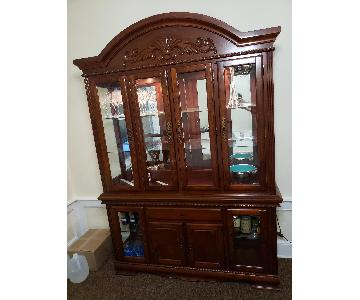 Wood & Glass China Cabinet/Breakfront