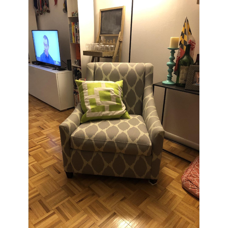 West Elm Gray Arm Chair