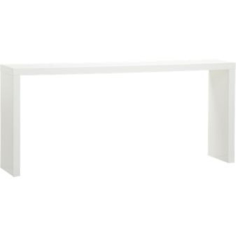 CB2 White Lacquer Console Table