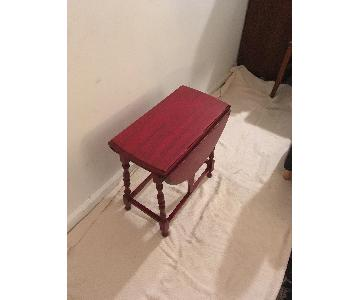 Antiqued Red Swing Leg Side Table