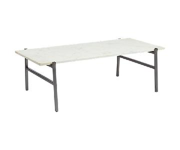 CB2 Slab Marble Coffee Table