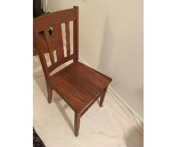 Solid Oak Dining Side Chairs