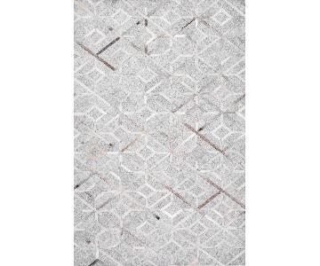 Mandovi Cowhide Diamond Trellis Rug