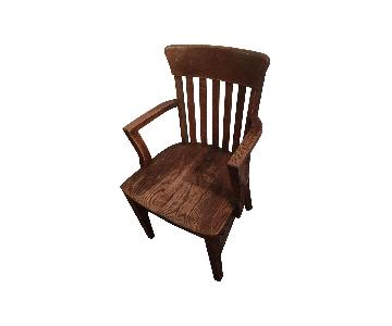 Vintage Teachers Oak Chair