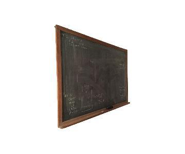 Oak Trimmed Old School Blackboard